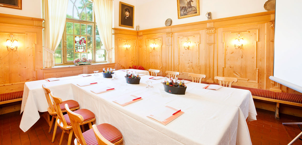 Large and small meeting rooms for your conference in Füssen at Hirsch Hotel