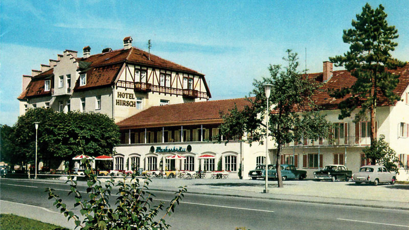 The Hirsch Hotel in Füssen in the 1950s