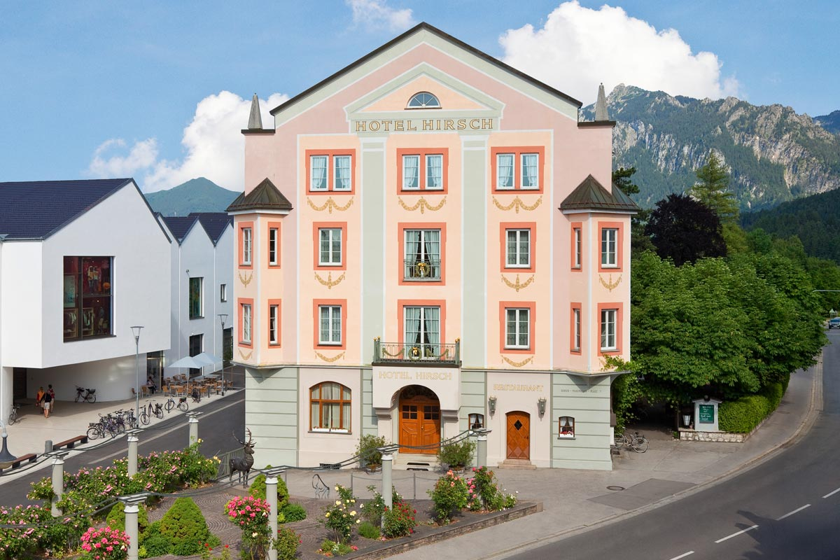 The Hirsch Hotel in Füssen in Bavaria