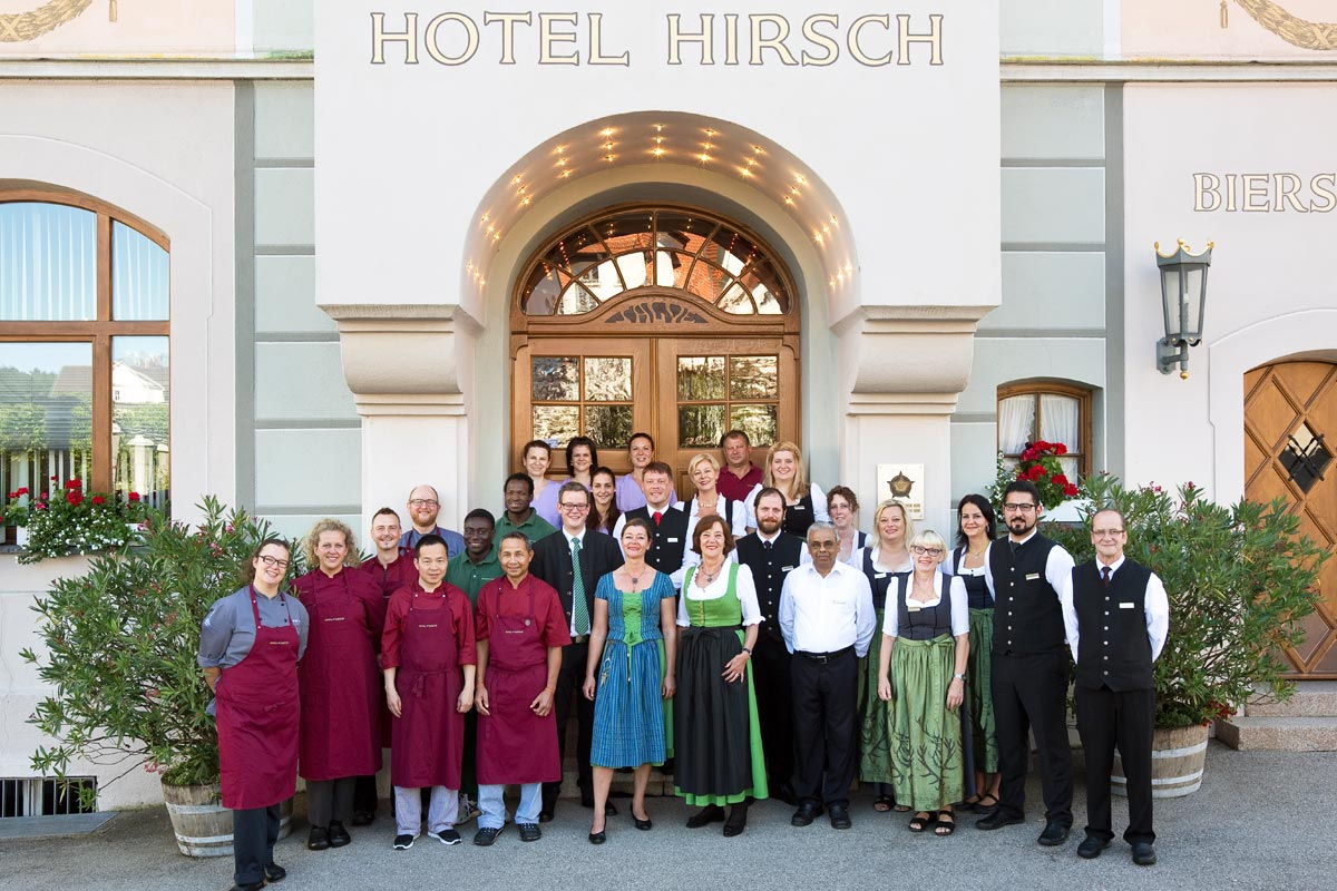 The team of the Hirsch Hotel