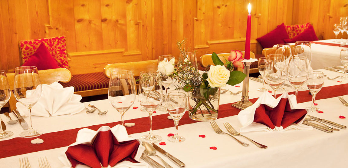 Restaurant in the Hotel Füssen with bavarian specialities and ideal settings for every kind of party