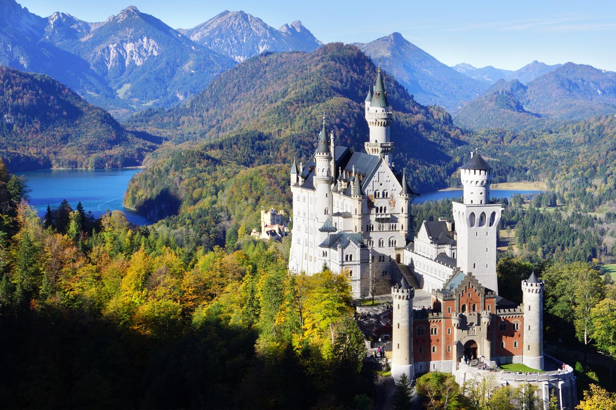'Neuschwanstein' Castle, the fairytale castle of King Ludwig II